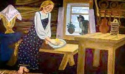 Машенька села в уголок горницы, покатила наливное яблочко по серебряному блюдечку