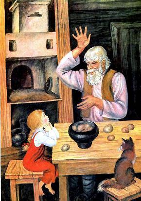 Так и стали жить вместе дед Кокованя, сиротка Дарёна да кошка Мурёнка