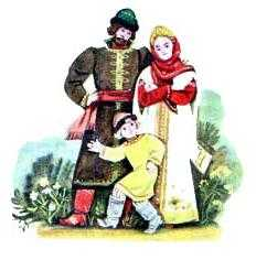 А козлёночек от радости три раза перекинулся через голову и обернулся мальчиком Иванушкой