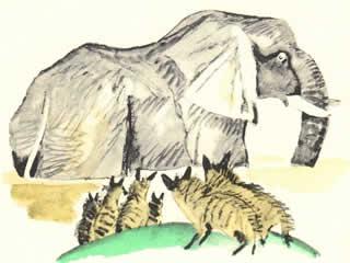 Шакалы и слон