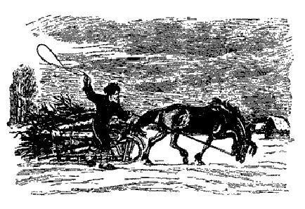 Шемяка ведет лошадь за поводья