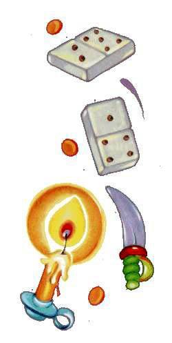домино и свеча