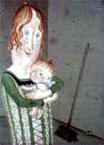 Синьора Сосиска и маленький Биллюццино на руках