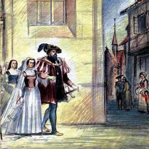 Синяя Борода и его жена венчание