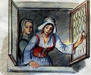 средневековая дама