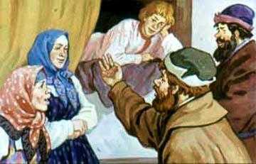 Иван Обвязал лоб тряпицей, залез на печь и полеживает
