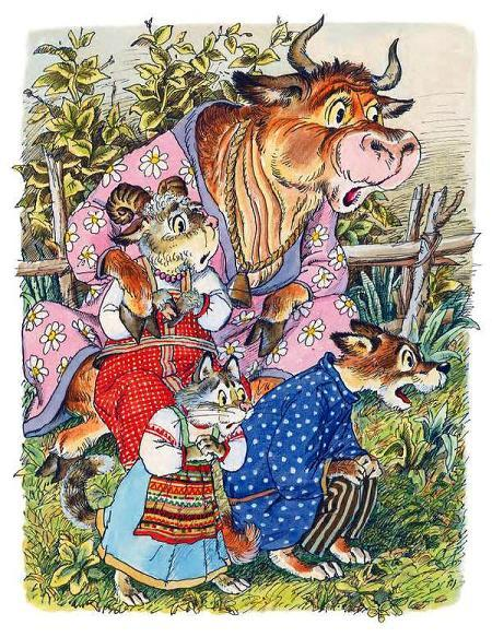 кошечка-судомоечка, собачка-пустолаечка, овечка-тихоня и Басуля-коровушка