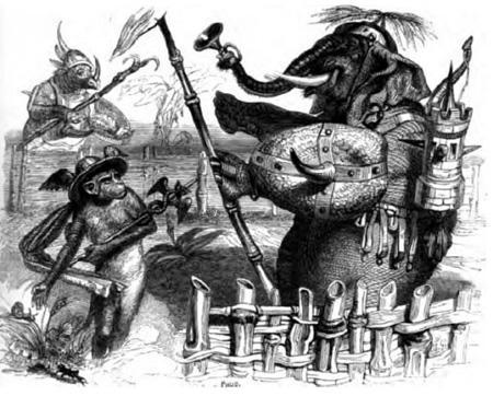 Слон и обезьяна Юпитера