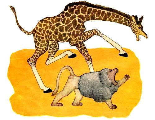 жираф и павиан