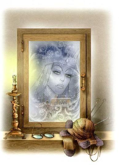 отражение снежной королевы в зеркале
