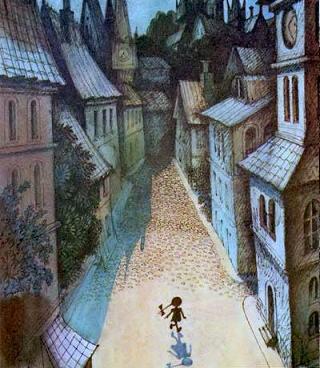 Люба вышла на безлюдную городскую площадь, прошла мимо старинной башни