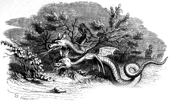 Стоглавый и стохвостый драконы