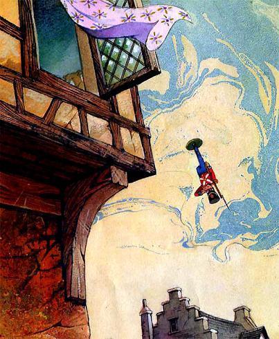 Стойкий оловянный солдатик полетел вниз, прямо на мостовую