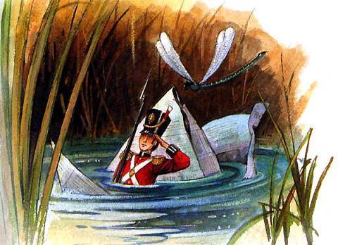 Стойкий оловянный солдатик и его бумажный кораблик тонут