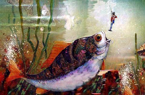 рыба проглотила Стойкого оловянного солдатика