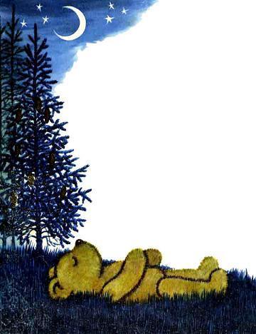 медвежонок Тедди Брюмм прилег отдохнуть