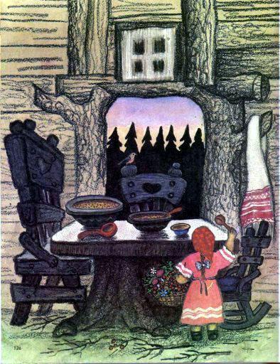 девочка в домике Трех медведей