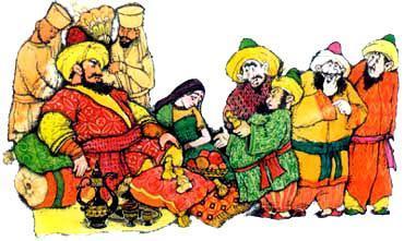 раджа послал в подарок султану соседней с ним страны три совершенно одинаковые золотые статуэтки