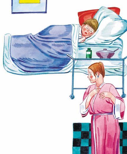 мальчик в постели простуда