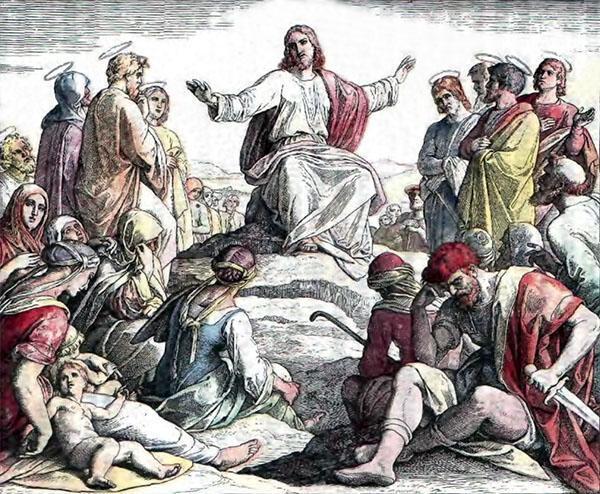 Иисус Христос учит народ