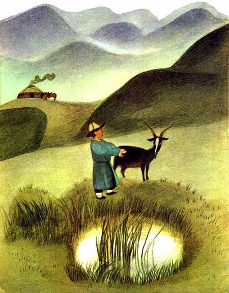 Умный Ашик поймал козу в поле