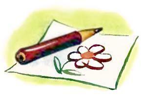 тетрадка и карандаши