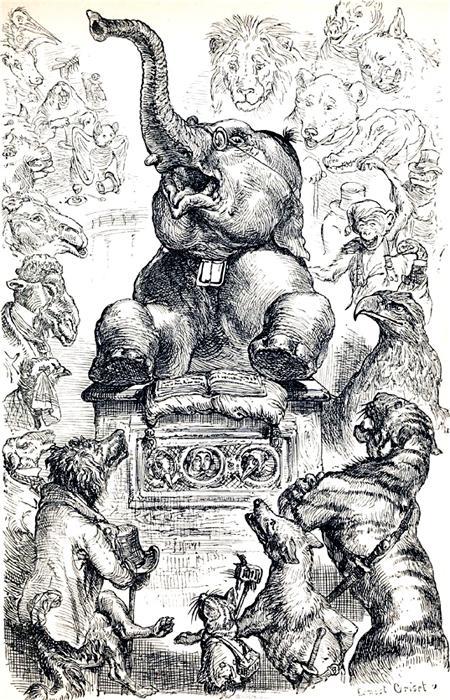 Верблюд, Слон и Обезьяна
