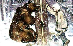 Веселый Матти и медведь в западне