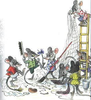 мышата делают уборку