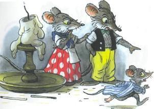 папа и мама мыши посылают мышонка спать пора спать