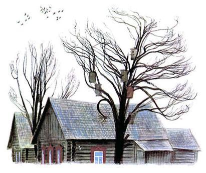 Весеннее небо домик