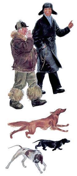 охотники и собаки