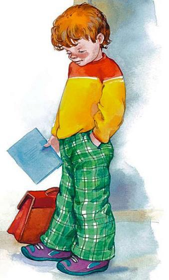 мальчик с тетрадкой