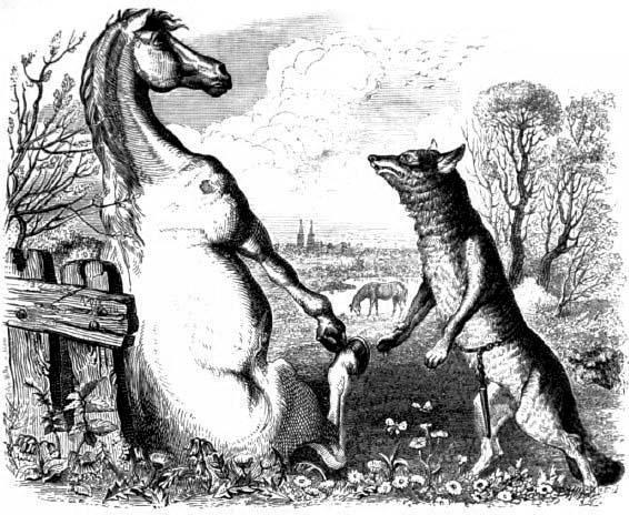 Волк и конь
