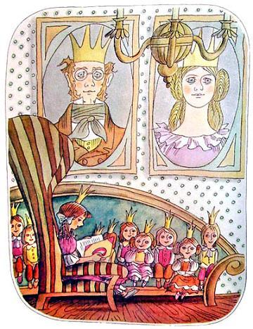 Жили однажды король с королевой, и король был самый геройский из всех мужчин, а королева была самой красивой из женщин