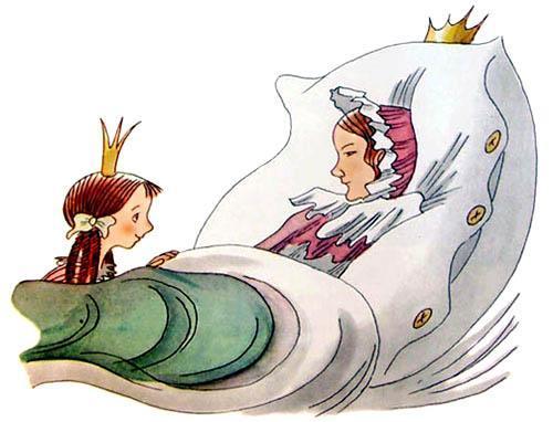 принцесса Алисия у кровати заболевшей матери королевы
