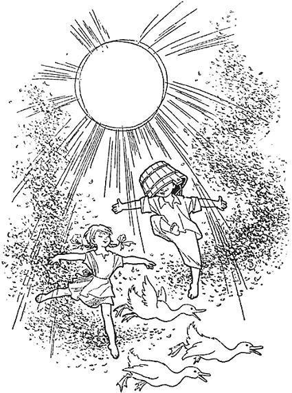 дети резвятся под солнцем