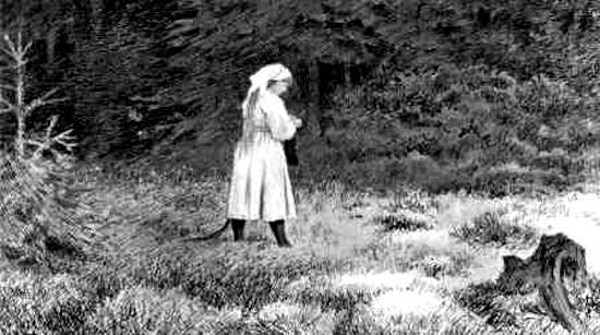 Хюльдра в лесу