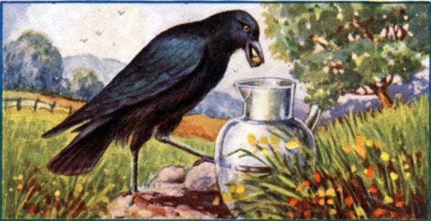 Ворона и кувшин