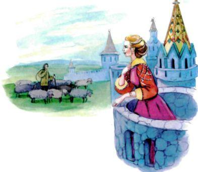 красавица дочь принцесса на балконе