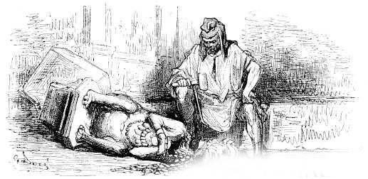 Язычник и деревянный идол