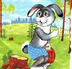 Заяц с корзинкой