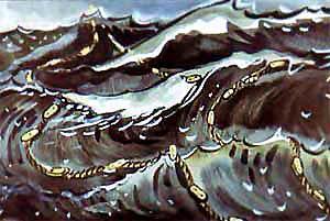 море шторм волны