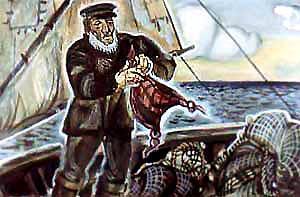 Каарел на борту рыбачей лодки