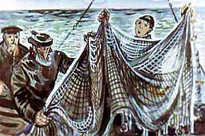 рыбаки и сети
