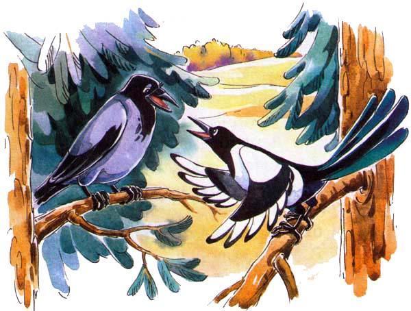 сорока и ворона