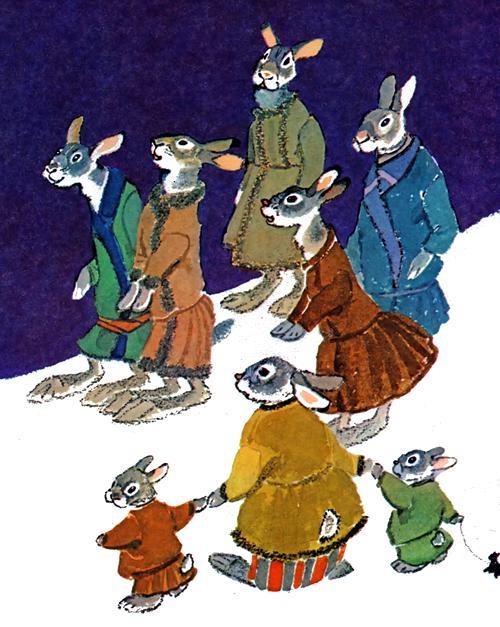 зайцы слушают Зайца – хвасту