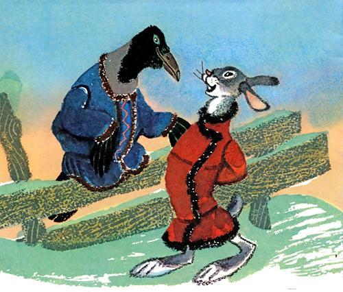 Заяц – хваста и ворон