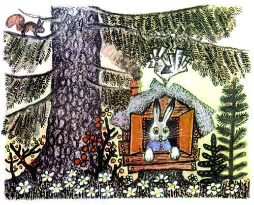 Заяц жил в домике
