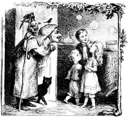 дети и старуха